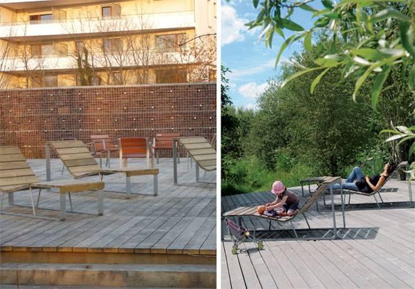 Landscape architecture - Deckchairs. Credit:  Bruel & Delmar STJP