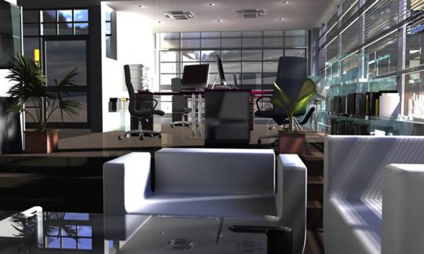 Visualization of an office made ​​in ArchiCAD 14. Credit: Menziesa; GNU Free Documentation License