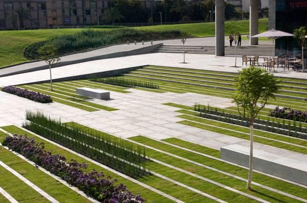 Landscape-Architecture - Digital 3D model of BGU University Entrance Square & Art Gallery. Photo credit: Sharon Yeari
