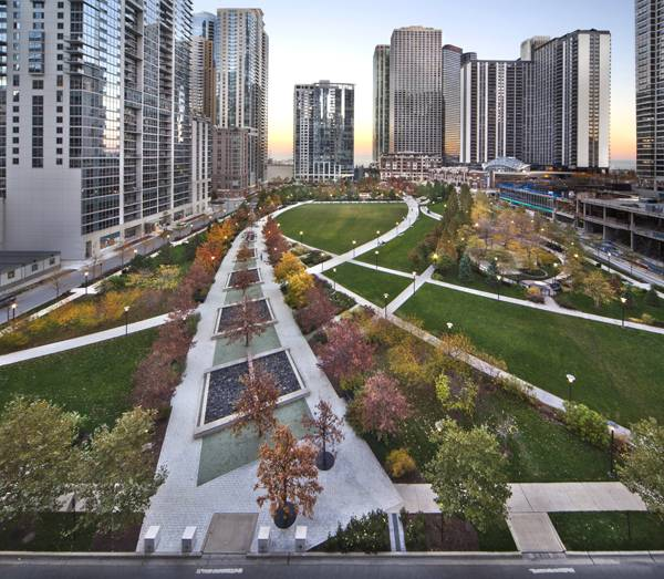 Landscape Architecture   The Park At Lakeshore East, Chicago, IL. Credit:  The