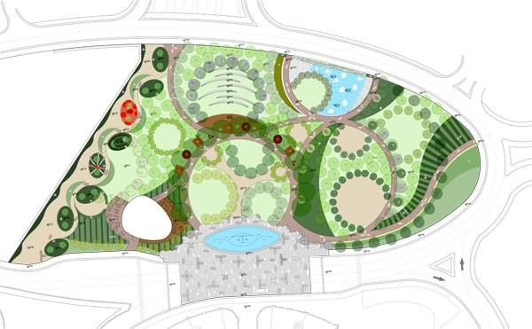 Landscape-Architecture - Master plan. Credit: SdARCH Trivelli & Associati