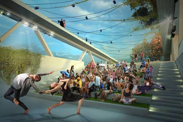 Street Bridge Park- 11th Street Bridge Park, OMA + OLIN Design, Washington, D.C. © OMA and OLIN