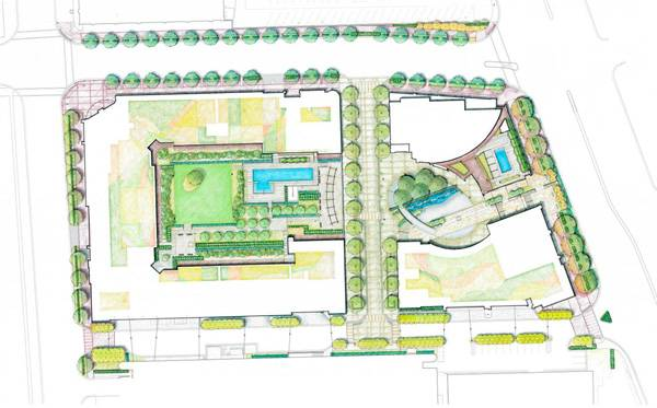 North Bethesda Market Masterplan. Credit: Nelson Byrd Woltz | Landscape Architects