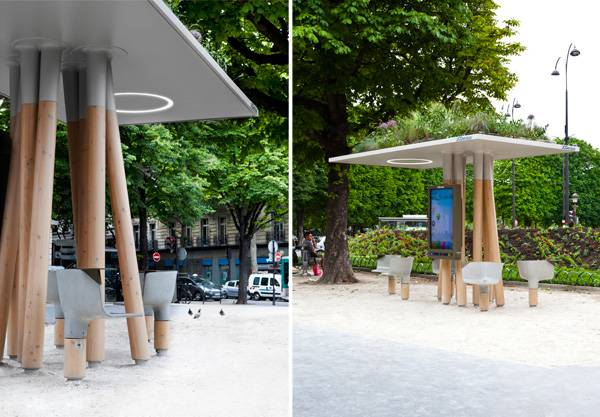 Escale Numérique (Street furniture) , by JCDecaux and Mathieu Lehanneur, Paris, France.