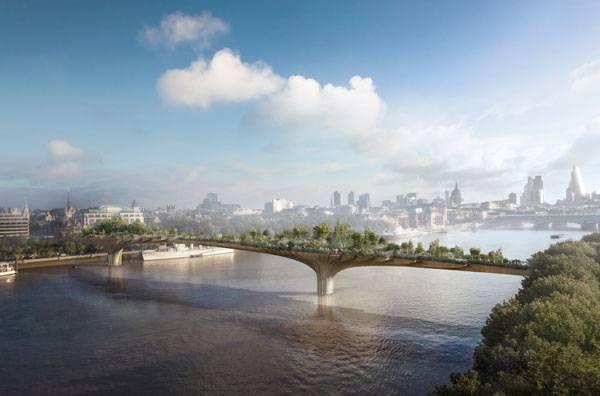 Architectural Engineering - Garden Bridge. Credit: Arup