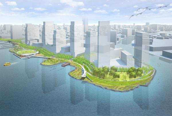 Hunter's Point South Park in New York City. Image Credit: Thomas Balsley Associates