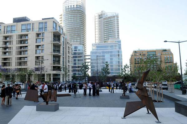 Zeitouneh Square public art event: Shattered Sun by Anachar Basbous. Image credit: Solidere