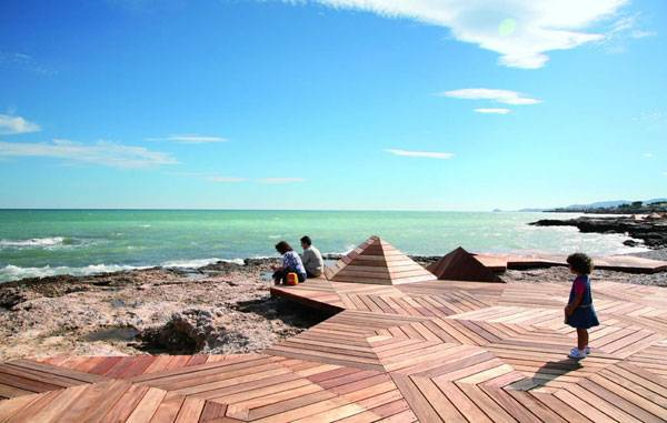 Vinaros Microcoasts, by Guallart Architects, Vinaròs,Castellón. Spain. Credit: Vicente Guallart