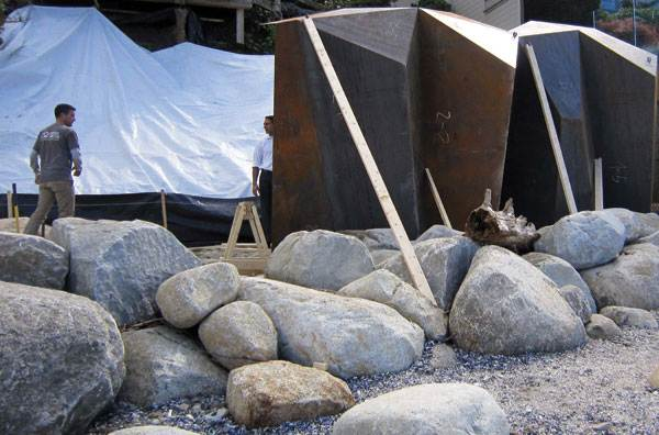The making of Metamorphous.  Photo courtesy of Paul Sangha Landscape Architecture