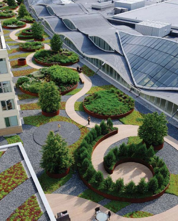 10 of the best green roof designs in the world for Award winning landscape architects