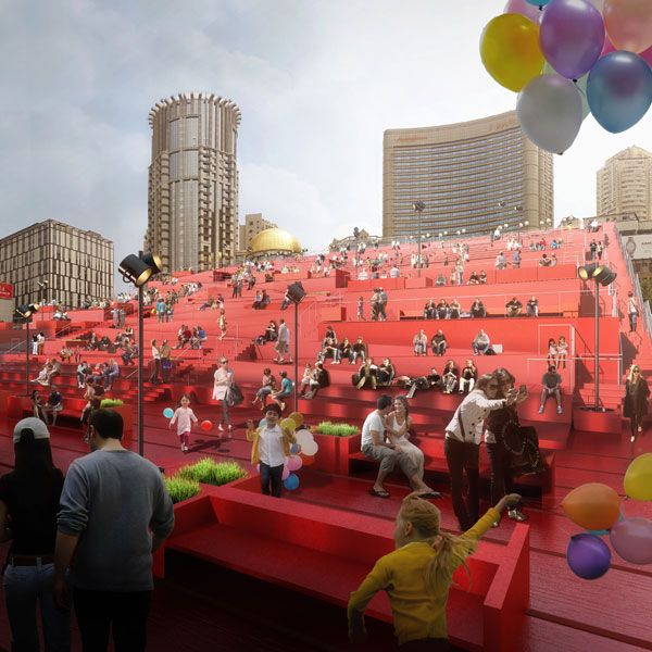 The Red Carpet project.  Visualization courtesy of 100 Architects.