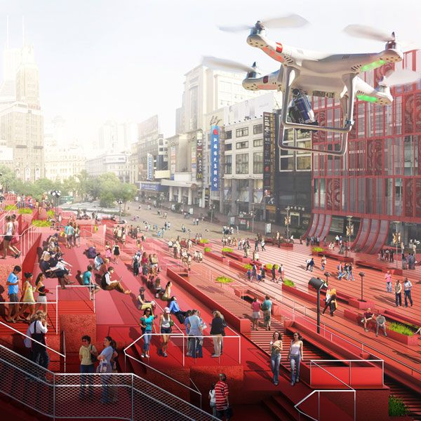 The Red Carpet project. Visualization courtesy of 100 Architects