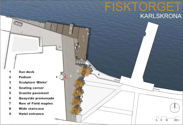 Fish Market Plaza plan by Thorbjörn Andersson & Sweco Architects