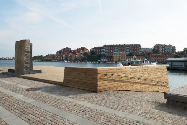 The Fish Market Plaza. Image courtesy of Thorbjörn Andersson & Sweco Architects