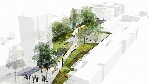 Ansieres Residential Park Reinforces A Social Bond Through Landscape