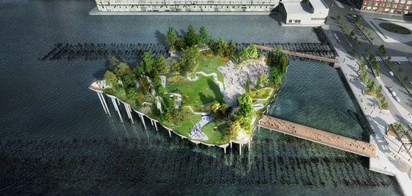 Pier 55 Floating Park.