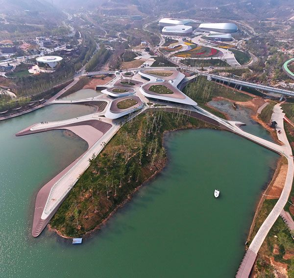 Heavenly Water Service Center of International Horticultural Exposition 2014 Qingdao