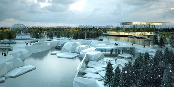 St. Petersburg Zoo competition phase North Pole veiw. Credit: Artefactory