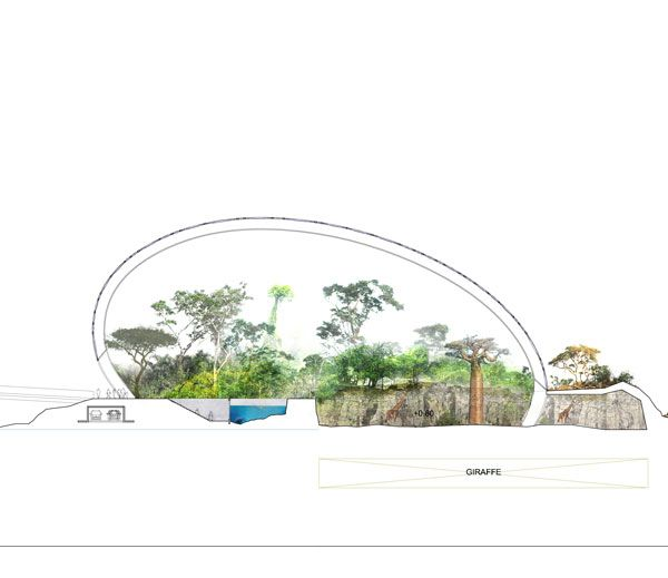 One of the proposed structures at St. Petersburg Zoo. Image originally from TNplus. Modified by SDR to suit publication.