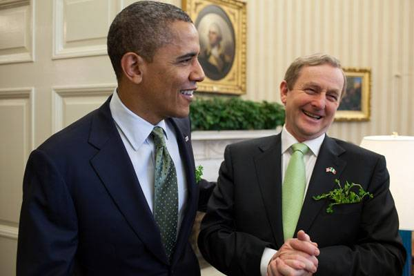 United States President Barack Obama and Taoiseach Enda Kenny from Ireland. Photo credit: Licensed under Public Domain. Image source.