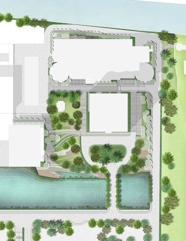 The masterplan for the SCG Headquarters. Image courtesy of  Landscape Architects of Bangkok