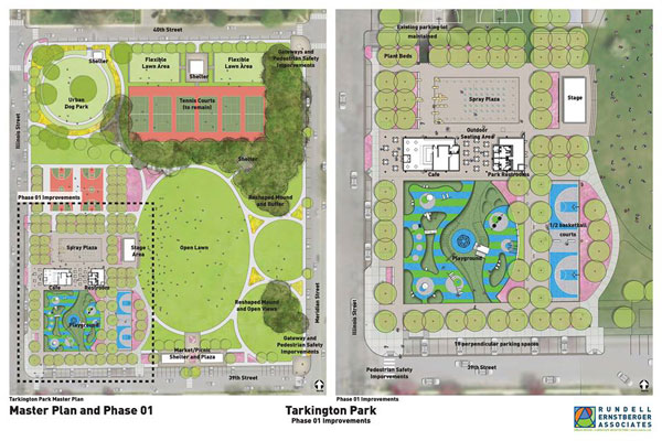 Left Image Master Plan Of Tarkington Park Renovations Right Phase