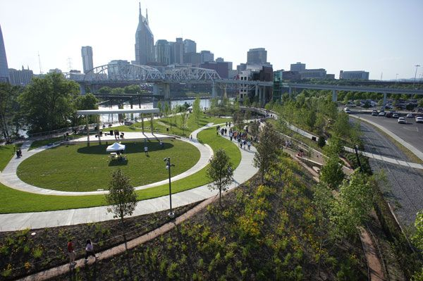 Curves at Cumberland Park. Photo credit: Hargreaves Associates