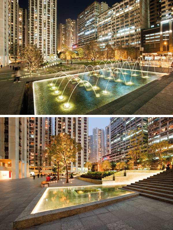 one island east becomes an exciting urban plaza for the