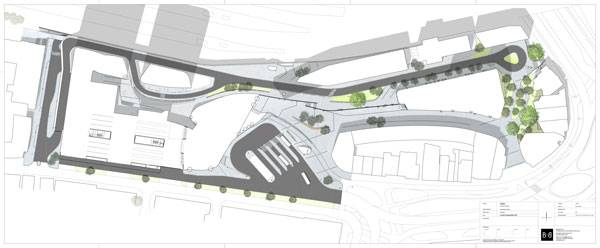 Arnhem Central Station masterplan. Copyright: Bureau B+B urbanism and landscape architecture