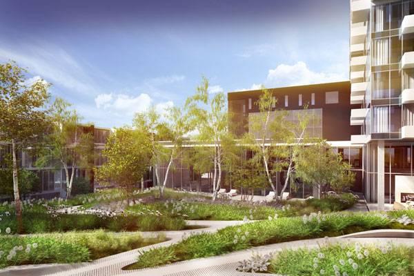 YUL Condominium & YUL Sales Office. Image courtesy of NIPpaysage