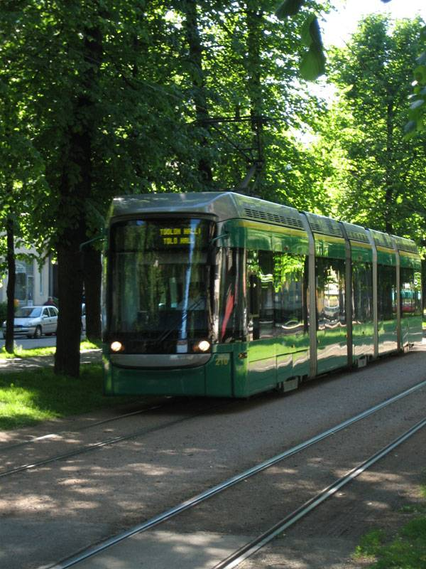 """A Tram in Helsinki Finland"" by I, Pöllö. Licensed under CC BY 2.5 via Wikimedia Commons - https://commons.wikimedia.org/wiki/File:A_Tram_in_Helsinki_Finland.JPG#/media/File:A_Tram_in_Helsinki_Finland.JPG"