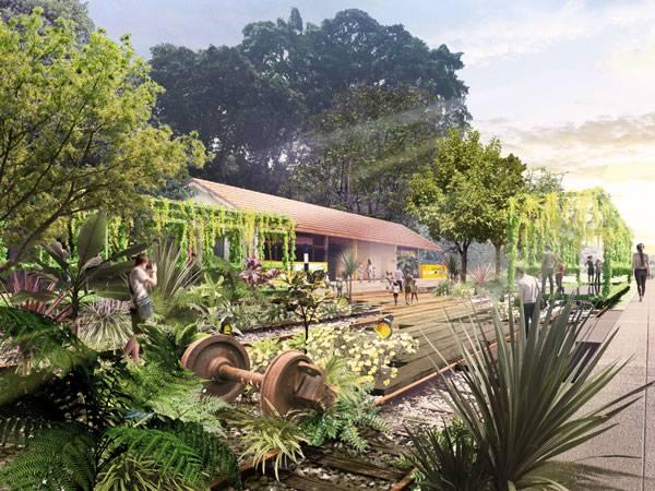 The Rail Corridor. Image courtesy of Tierra Design