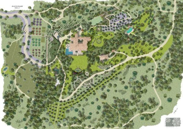 Masterplan of the Mediterranean Park Countryside, by Atelier Nelumbo Paysage
