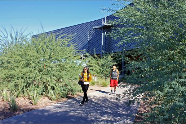 Estrella Hall at Estrella Mountain Community College, Photo courtesy of Colwell Shelor Landscape Architecture