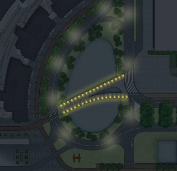 Masterplan of the Undulating Bridge Hoofddorp project. Image credit: LODEWIJK BALJON landscape architects.