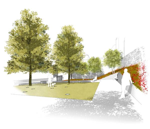 Visualisation for the Garden of Remembrance. Image credits: scape Landschaftsarchitekten GmbH