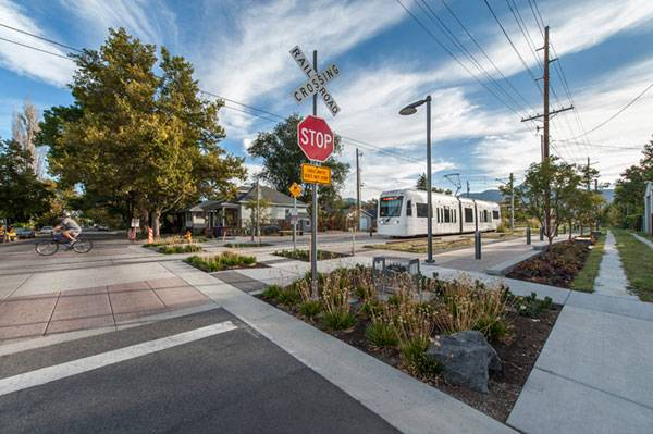 Sugar House S-Line Streetcar and Greenway. Photo credit: Robert Holman