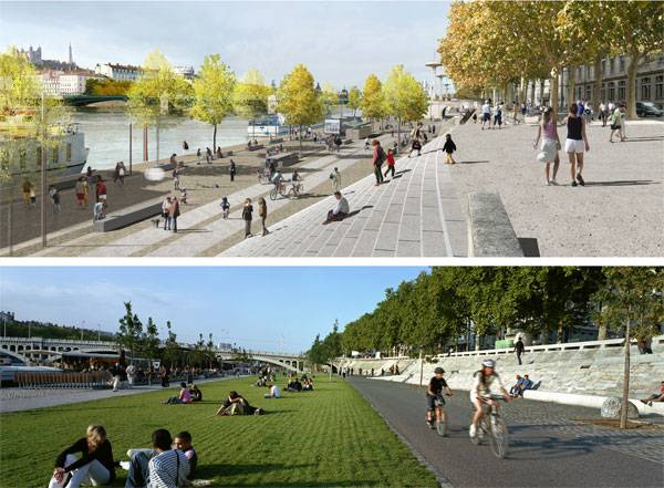 Visualisations of The Lyon River Bank. Credit: IN SITU Architectes Paysagistes.