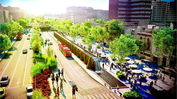 Cultural Corridor Chapultepec. Image courtesy of FR-EE