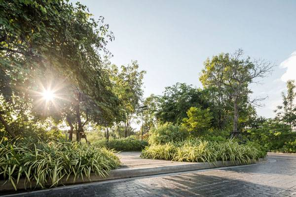Ming Mongkol Green Park. Image courtesy of  Landscape Architects 49 Limited