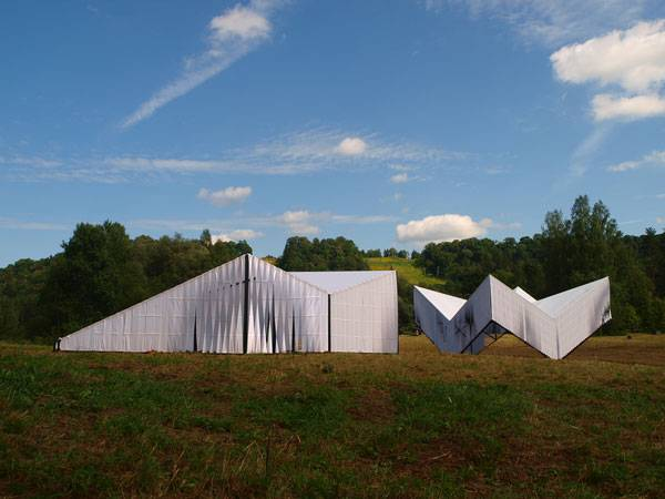 Pavilion and Workshops for Nature Concert Hall. Photo credit: Ernests Sveisbergs