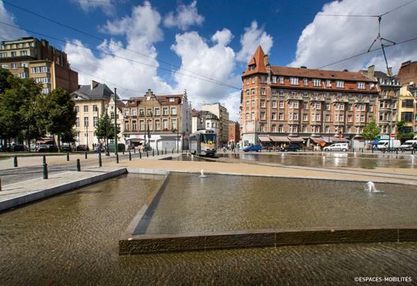 Les Quais - Ville De Bruxelles. Phoo credit: Espaces Mobilites