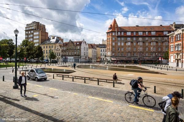 Les Quais - Ville De Bruxelles. Photo credit: Espaces Mobilites