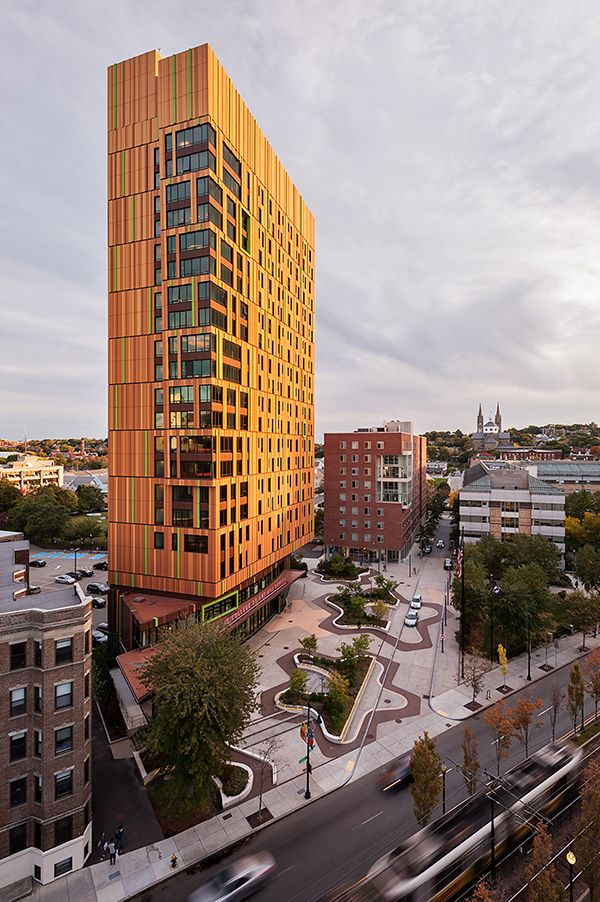 MassArt Residence Hall. Photo Credit: Ground Inc.