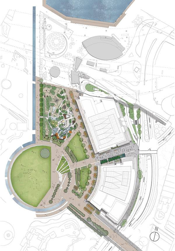 Darling Harbour Masterplan. Image courtesy of ASPECT Studios