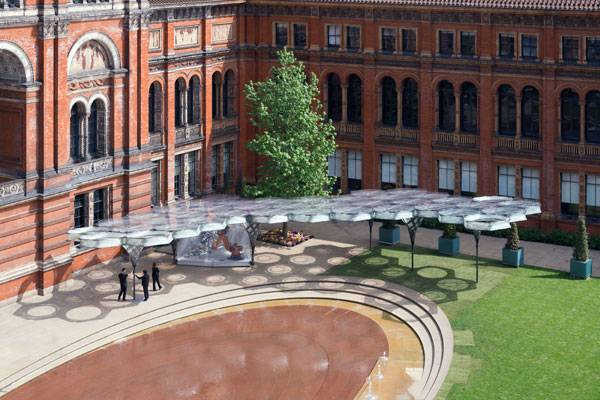 Elytra Filament Pavilion at the V&A. (c) NAARO