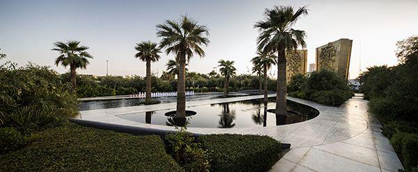 Constitution Garden sculpture and fountain. Photo Credit: Nelson Garrido©