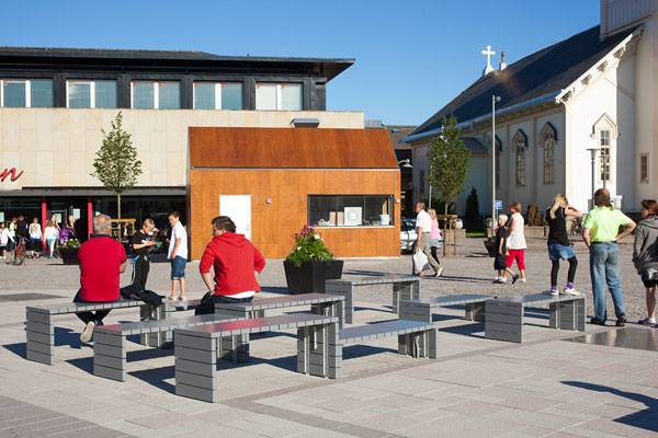 Kungsbacka Square. Photo courtesy of White Arkitekter