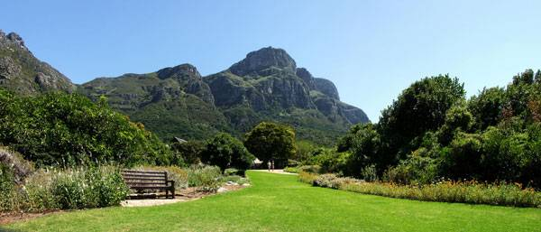 View of Table Mountain from Kirstenbosch Botanical Gardens. By Didier B (Sam67fr) - Own Work - Panorama made of 3 pictures taken by me, CC BY 2.5, https://commons.wikimedia.org/w/index.php?curid=1094703