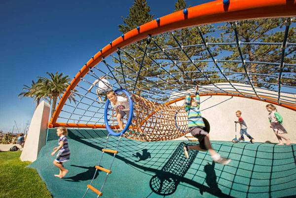 Glenelg Foreshore Playspace . Photo credit: Sweet Lime Photo
